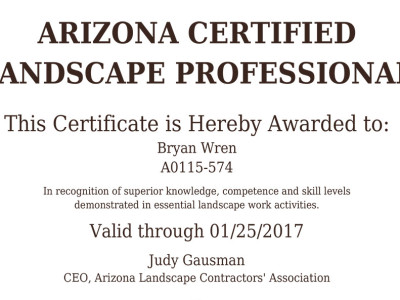 Arizona Certified Landscape Professional